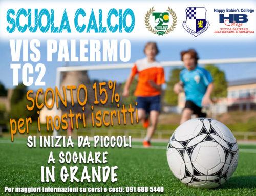 Scuola Calcio ⚽ VIS Palermo: sconto del 15% per i nostri iscritti 🏆